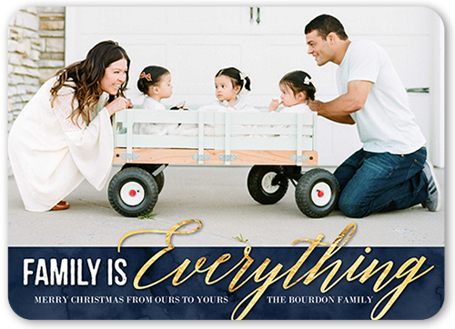 Family Is Everything Christmas Card, Rounded Corners
