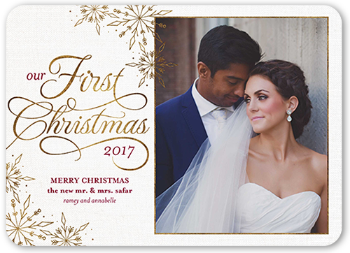 Our First Flurries Christmas Card