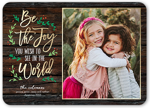 Be The Joy Christmas Card, Rounded Corners