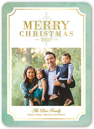 Festive Blessings Christmas Card