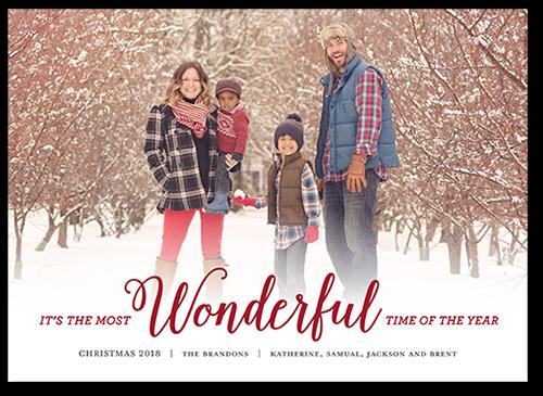 Scripted Wonderful Christmas Card