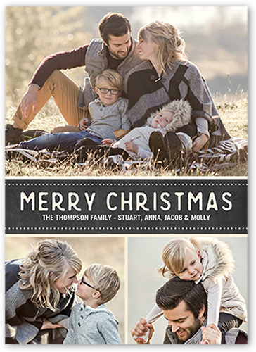 Shutterfly Christmas Cards.Bracket Corners Christmas Photo Cards Shutterfly