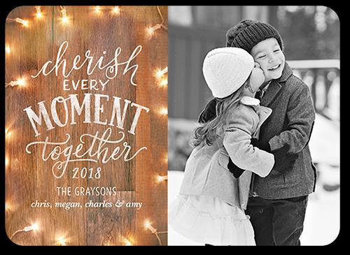 Wooden Cherish Moment Christmas Card