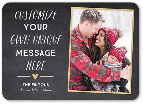 Custom Fun Christmas Card, Rounded Corners
