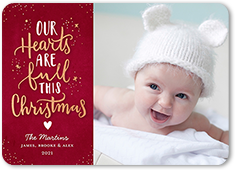 our hearts christmas card