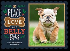 belly rubs christmas card