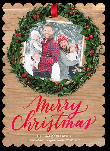 6dc57e5e09 Clever Wreath Christmas Card