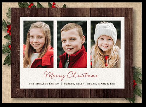 8b807f96db Linen Frames Christmas Card