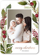 berry enclosure christmas card