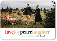 peace and laughter christmas card
