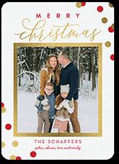 refined confetti christmas card
