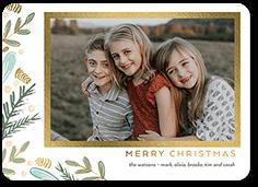 simple foliage christmas card