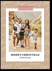 christmas snapshot christmas card