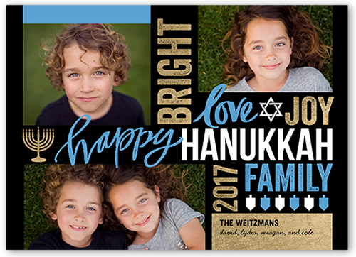 Bright Love Joy Hanukkah Card