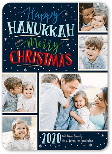 Merry Flurries Hanukkah Card