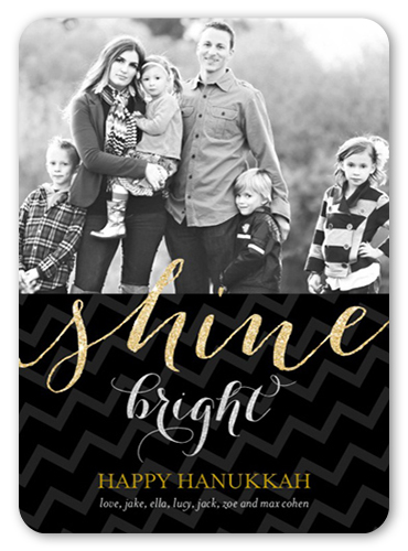 Shine So Bright Hanukkah Card