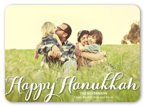Scripted Delight Hanukkah Card
