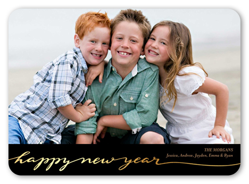 Charming New Year New Year's Card