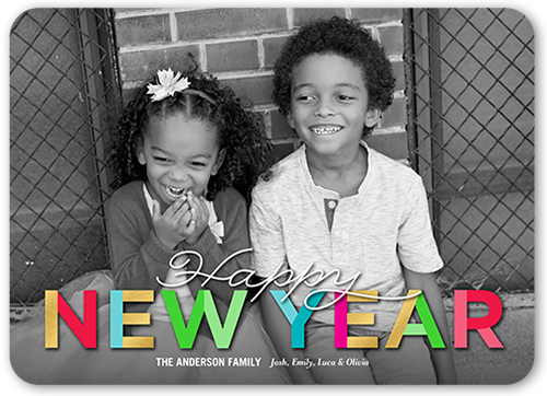 Annual Bright Color New Year's Card