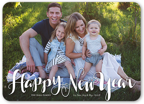 Annual Script New Year's Card