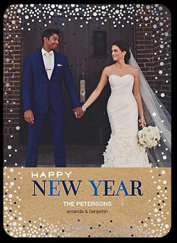 Falling Confetti New Year's Card