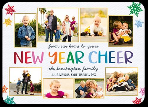 Rainbow Annual Cheer New Year's Card
