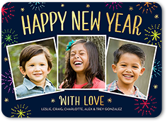new year cards new years photo cards shutterfly