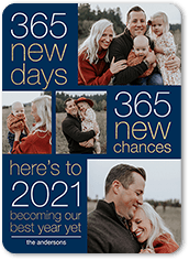 new chances new years card
