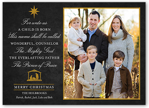 Scripted Grace Religious Christmas Card