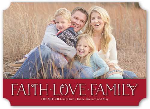 Faith And Love Banner Religious Christmas Card, Square