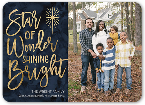 Star Of Wonder Religious Christmas Card