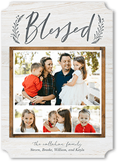 rustic blessing religious christmas card