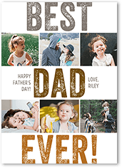 best dad forever fathers day card