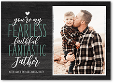 fearless and fantastic fathers day card