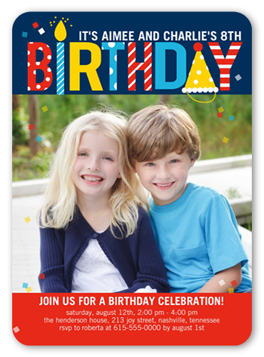 12th birthday invitations shutterfly pattern birthday twin birthday invitation stopboris Gallery