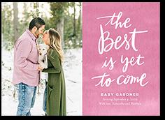 the best pregnancy announcement 5x7 flat