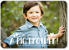 big brother pregnancy announcement 5x7 flat