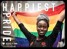big bold love pride month greeting card
