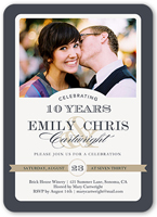 always and forever wedding anniversary invitation 5x7 flat