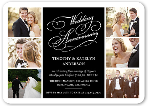 Delicate Celebration Wedding Anniversary Invitation, Rounded Corners