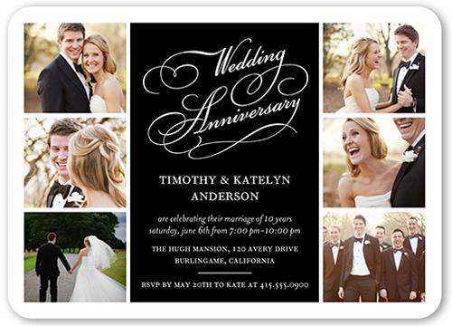 Delicate Celebration Wedding Anniversary Invitation, Square