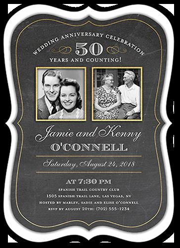 Countless Memories Wedding Anniversary Invitation, Bracket Corners