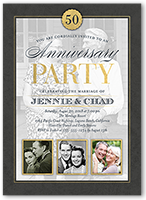 Wedding anniversary invitations shutterfly wedding anniversary invitation from 127 classic anniversary stopboris