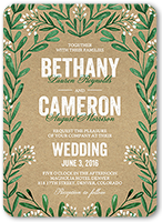 exquisite filigree wedding invitation 5x7 flat