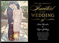 extravagant affair wedding invitation 5x7 flat