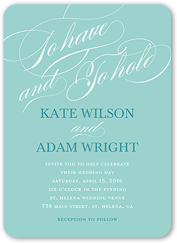 Eternal Vows Wedding Invitation, Rounded Corners