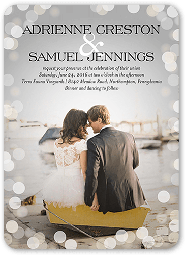 Love In The Air Wedding Invitation, Rounded Corners