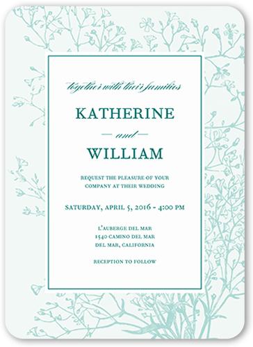 Graceful Elegance Wedding Invitation, Rounded Corners