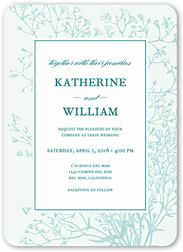 Graceful Elegance Wedding Invitation, Square