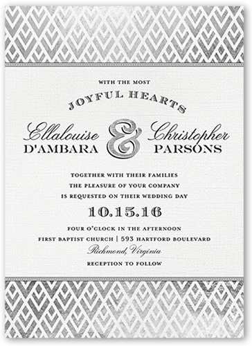 Radiant Love Wedding Invitation, Square Corners